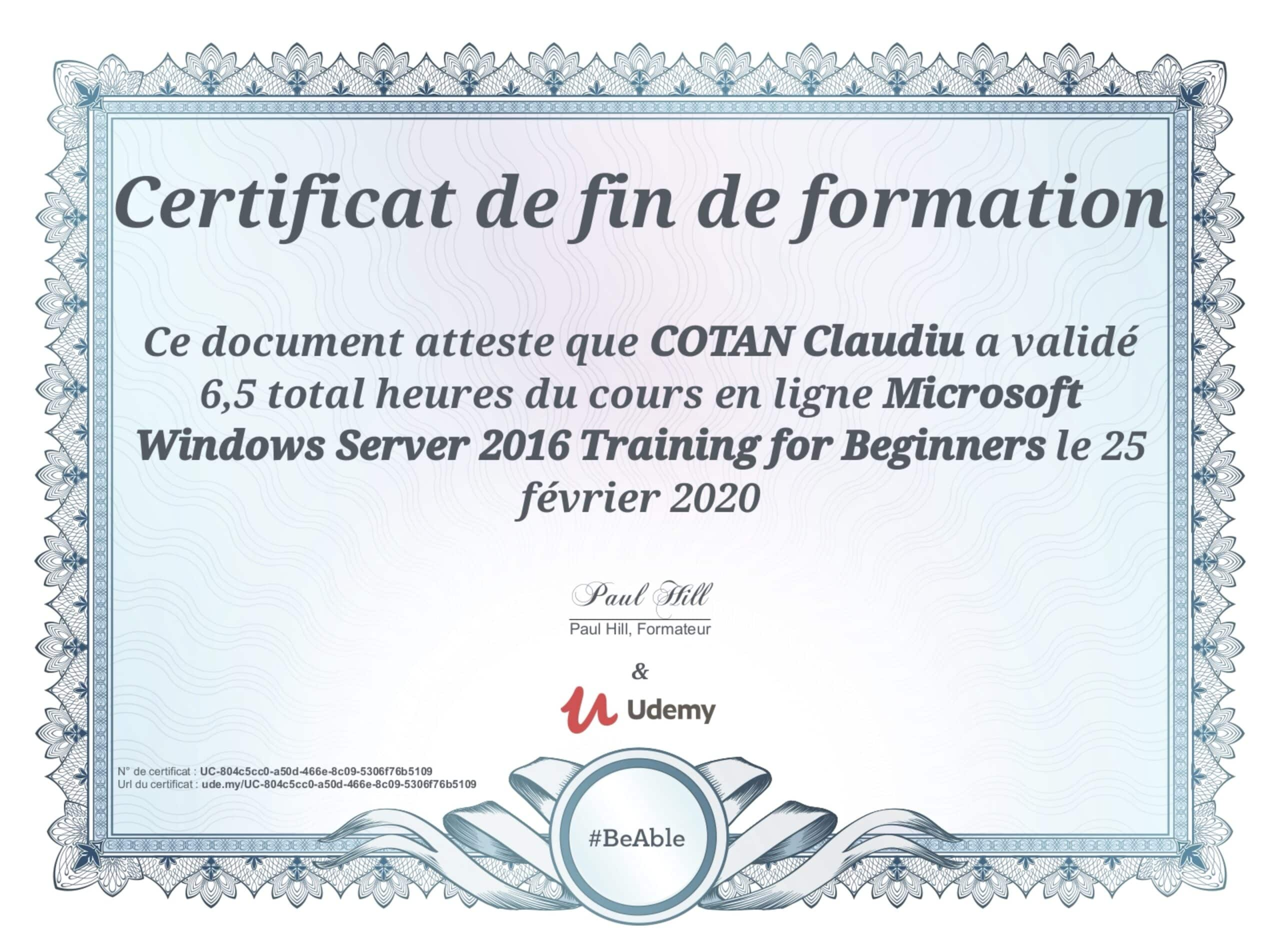 Certification-WINDOWS-SERVER-2016
